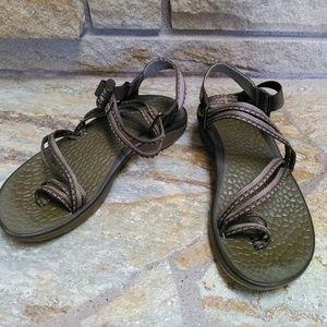 Chaco ZX/2 Classic sandals olive brown 7